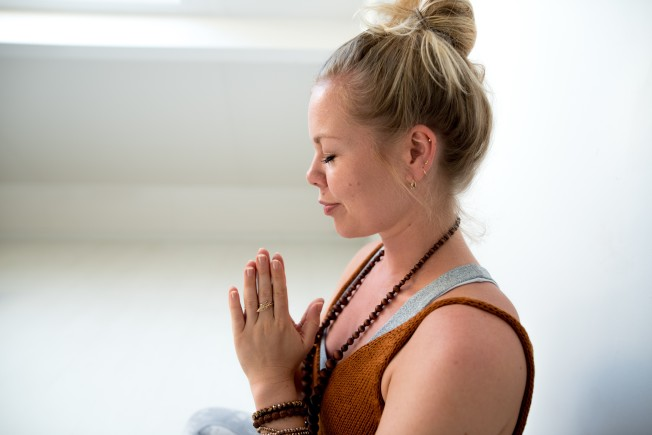 Yoga teacher Sarah Bierens