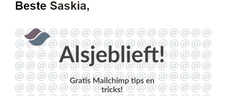 Header merge tags kennisbank artikel Mailchimp