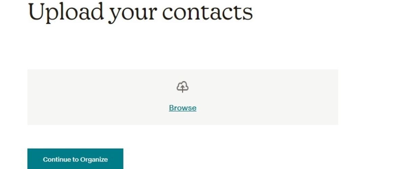 Upload je contacten in een Mailchimp lijst
