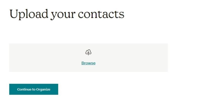 je contacten uploaden in Mailchimp