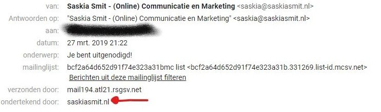 E-mail header info