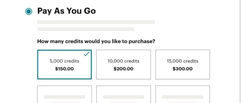 Pay as you go - abonnementsvormen Mailchimp