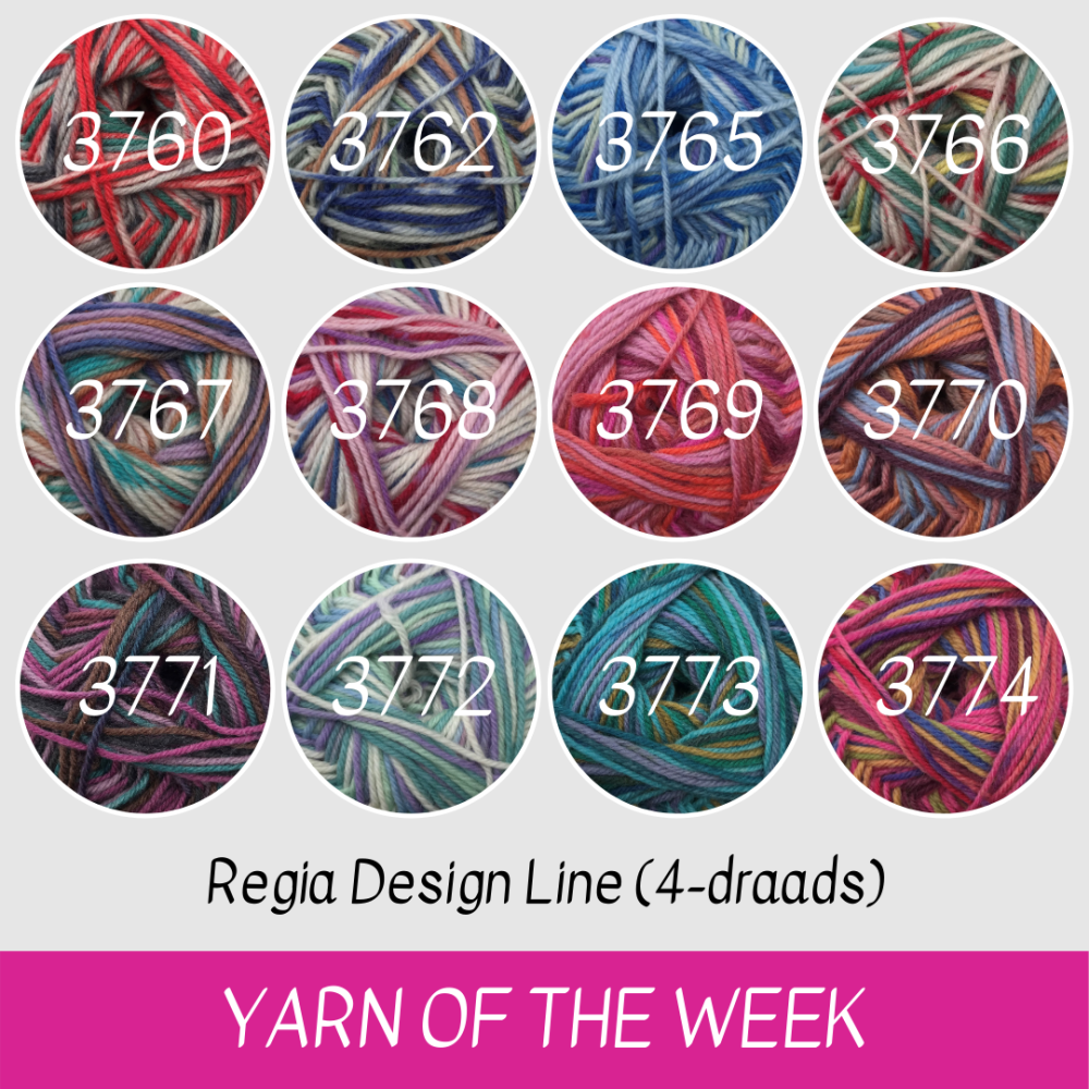 Regia Design Line 4-draads sokkenwol