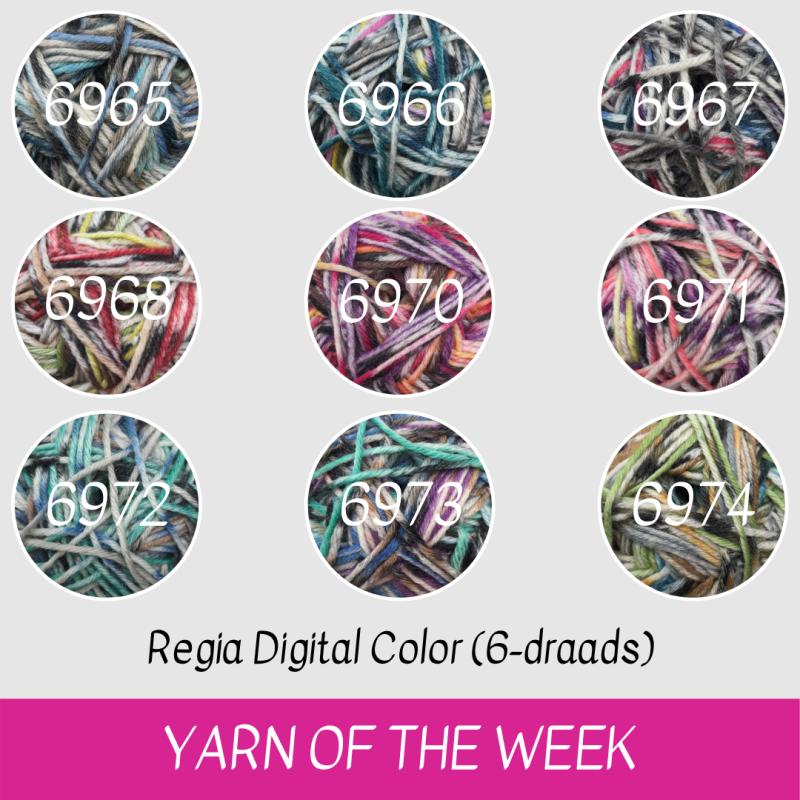 Regia Digital Color 6-draads sokkenwol