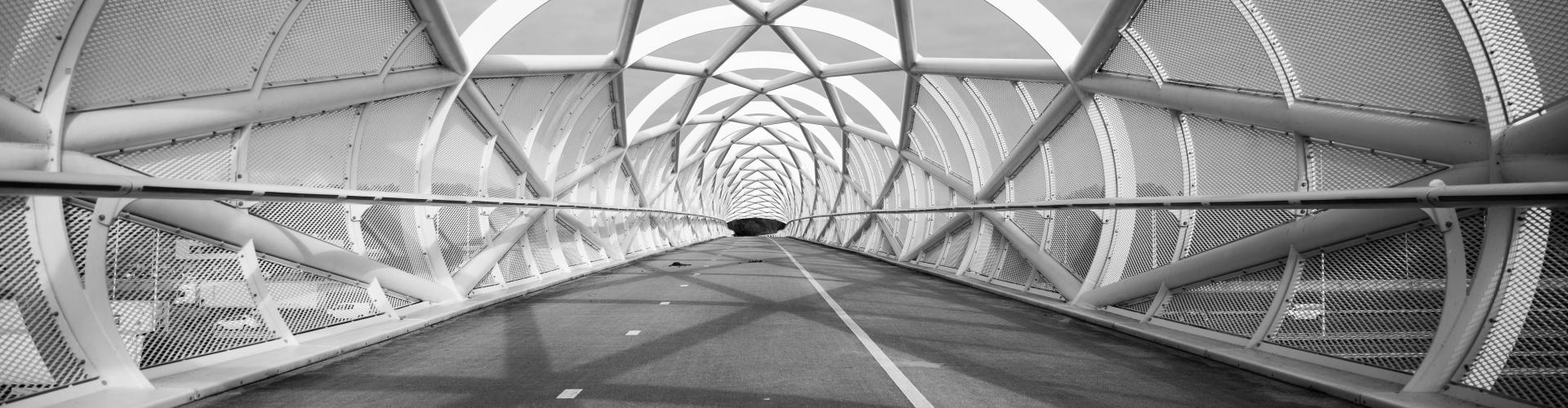 zwart wit brug Charlois rotterdam