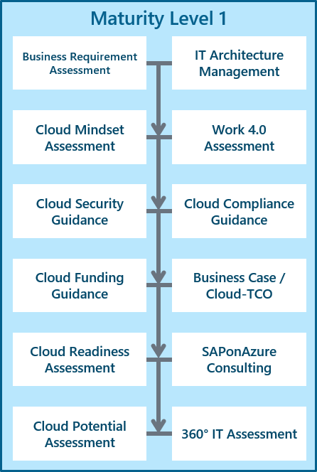 Cloud Maturity Model - Level 1 | Scheer | SAP On Azure Managed Services