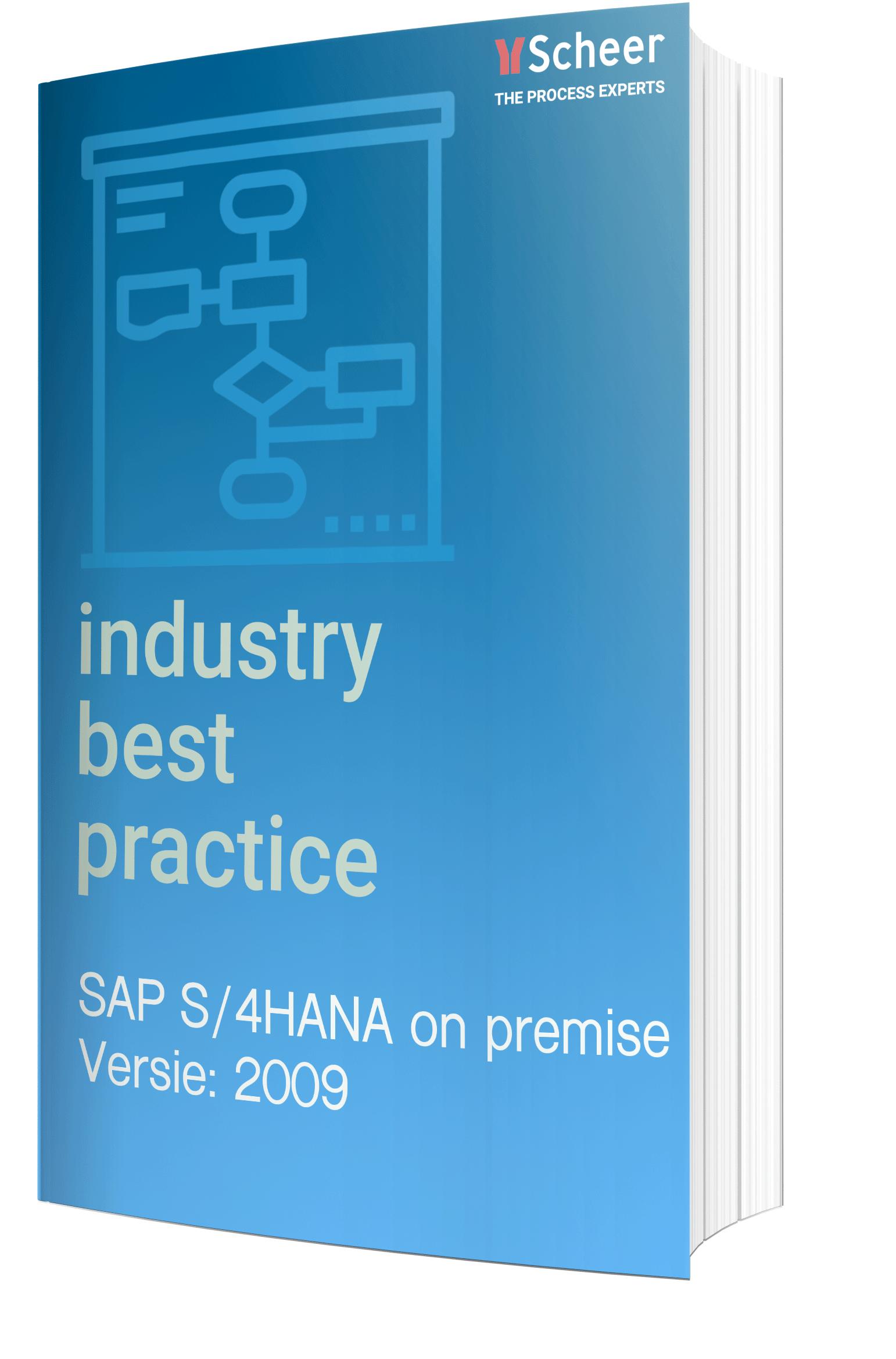 Best Practice SAP S/4HANA On Premise 2009