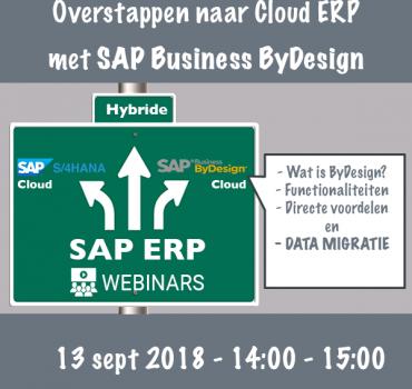 Overstappen naar SAP Cloud ERP