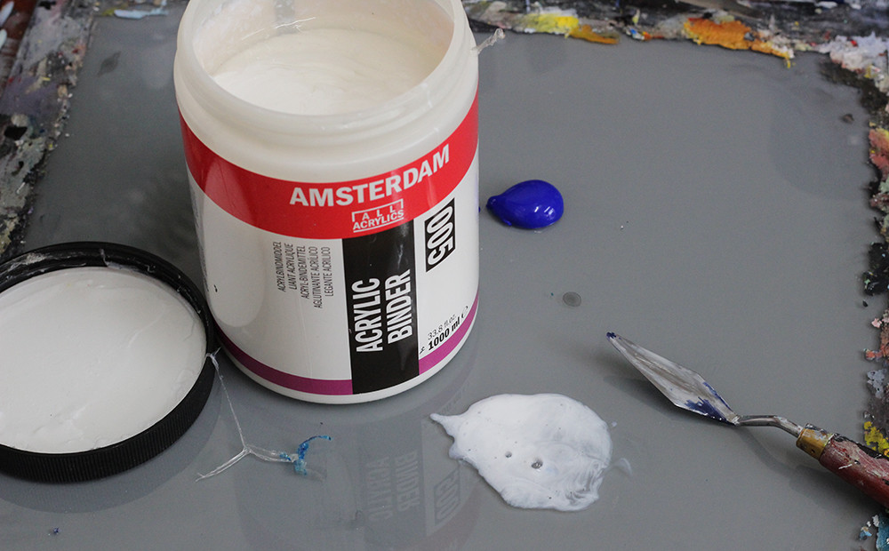 Bindmiddel acrylverf