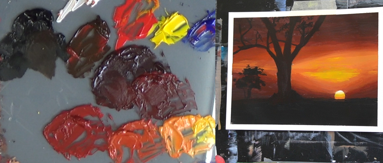 Schilderen met acrylverf: verf voorbereiden op het palet
