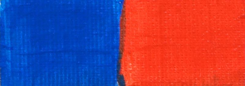 Complementaire kleuren: blauw en rood