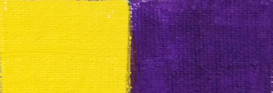 Complementaire kleuren: geel en paars
