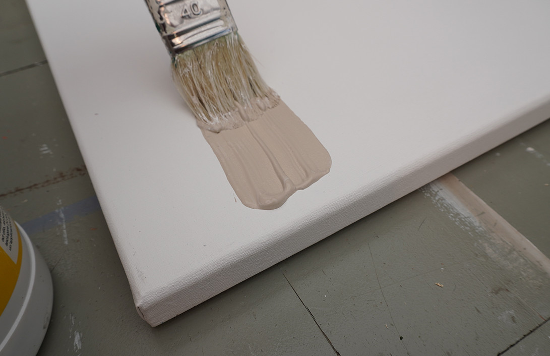 ondergrond kleur geven met gesso