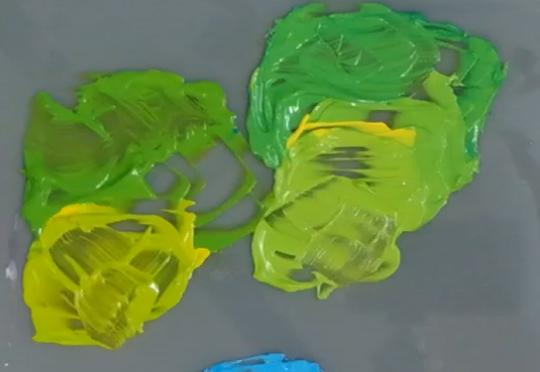 Links Van Bleiswijck: geen neutraal groen uit twee primaire kleuren. Rechts Amsterdam: neutraal groen uit twee primaire kleuren.