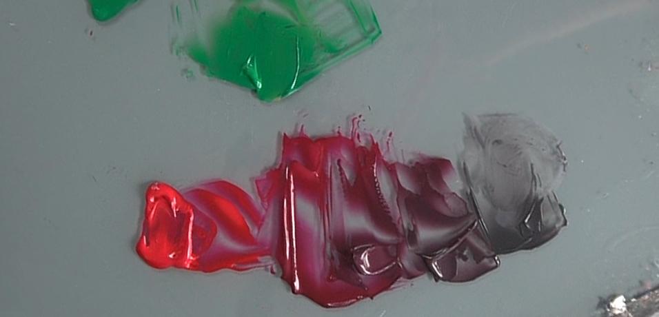 Complementaire kleuren magenta en groen