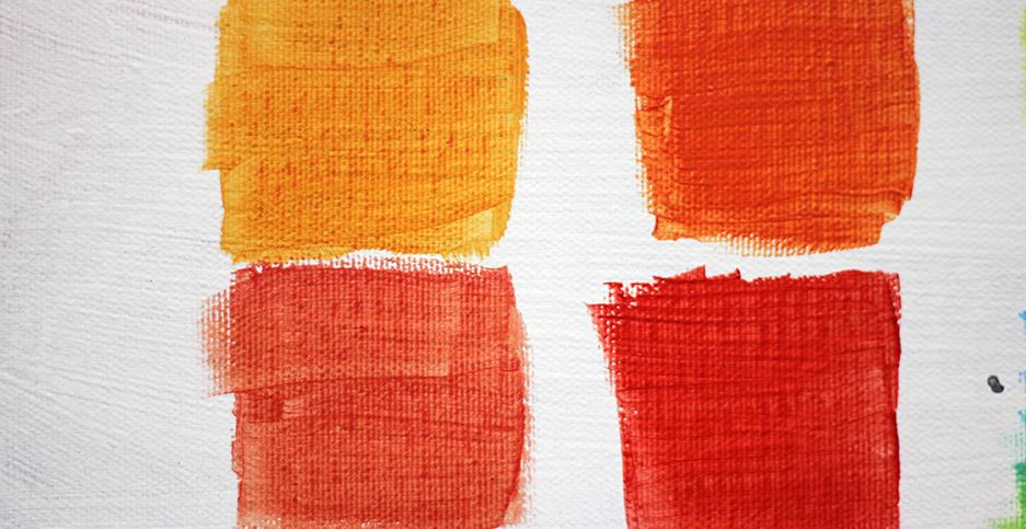 Oranje en rood