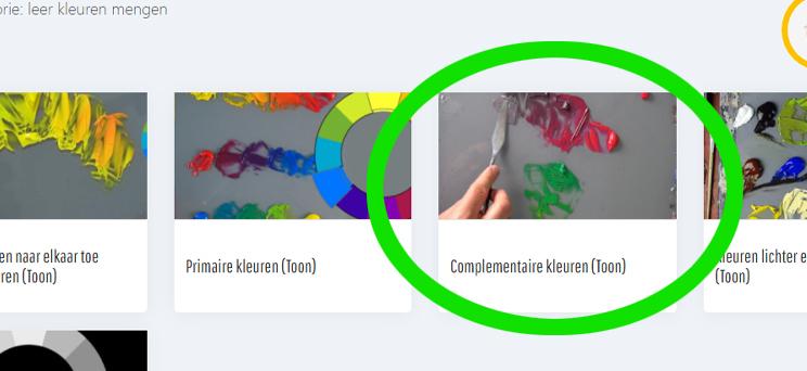Schilderclub video Complementaire kleuren