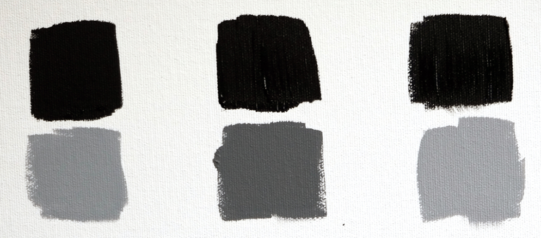 tintkracht zwarte verf