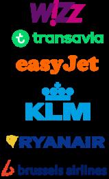 Logos airlines Artventures schildervakantie