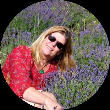 Annerie Mol lavendel veld op Tihany Balatonmeer