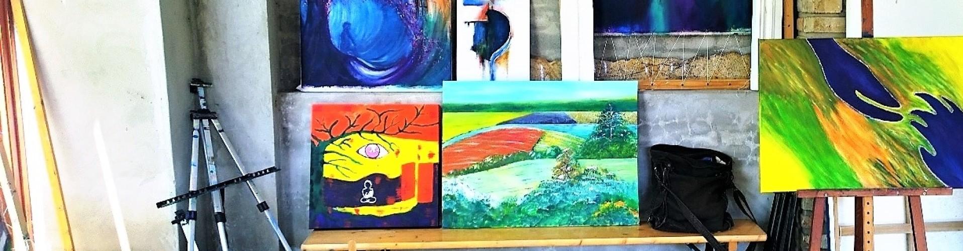 Schilderijen van in het atelier Schilderen in Hongarije
