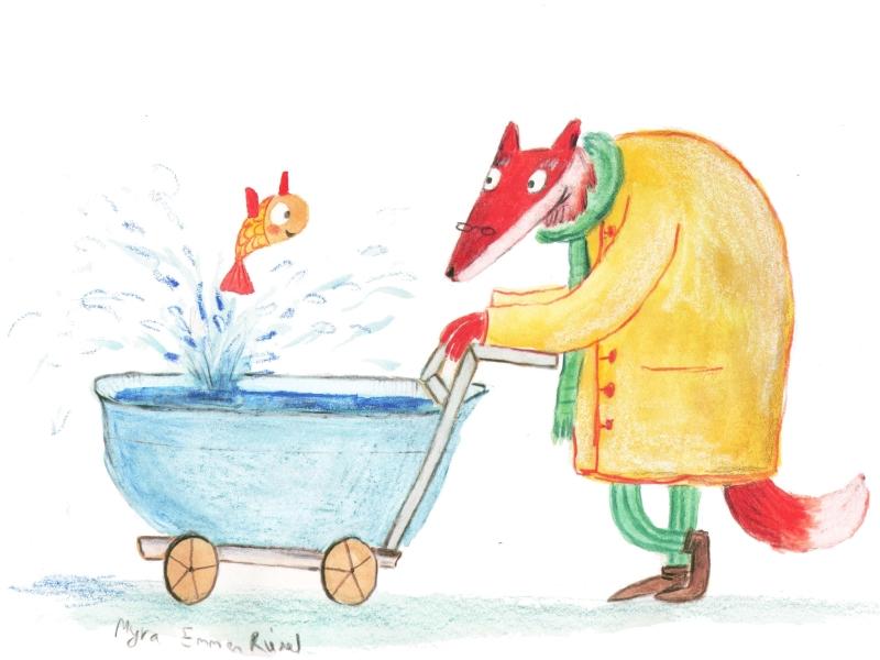 Werk van prentenboek illustrator Myra Emmen Riedel