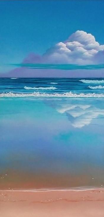 zee-met-weerspiegelingen