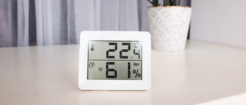 Hoe kun je de hoeveelheid vocht in huis meten?
