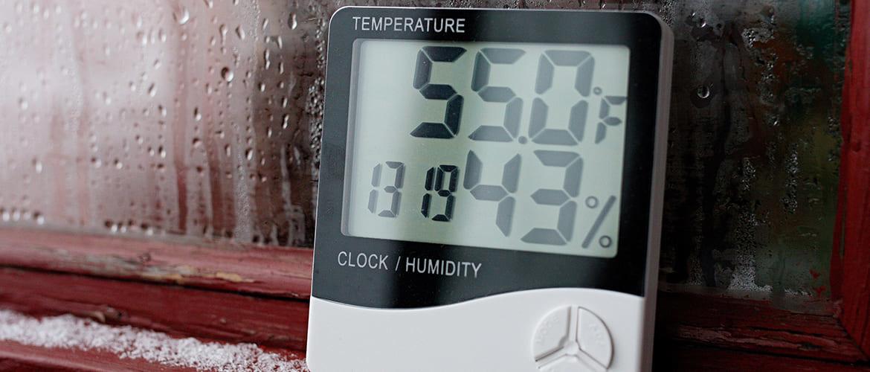Hoe kun je de luchtvochtigheid in huis meten?