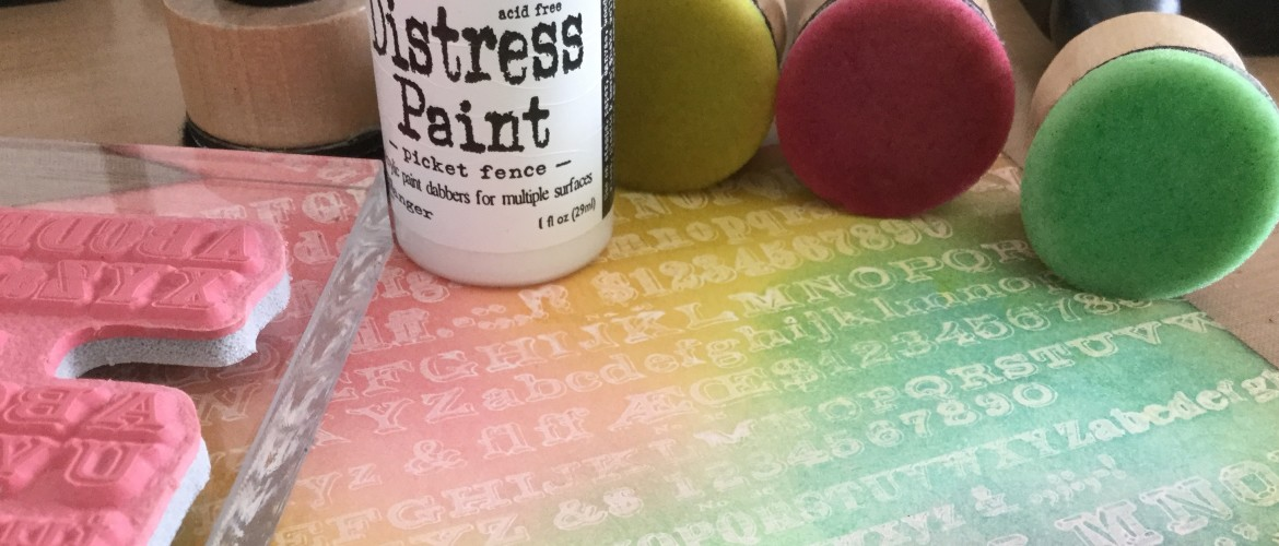 De Distress Paint Resist techniek