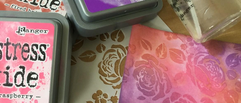 Oxide inkt en Stencils, deel 2