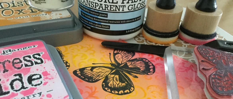 Distress Oxide & Texture Paste.... wat gebeurt er dan?
