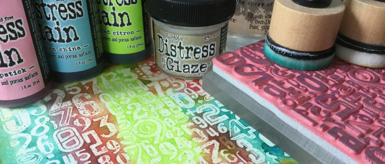 Stempelen met Distress Glaze