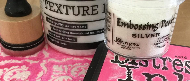 Embossing Poeder en Texture Paste