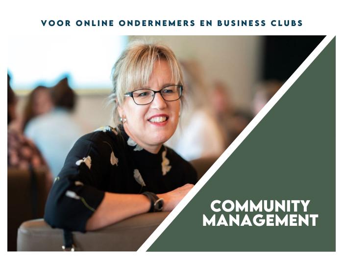 Community management voor online ondernemers en business clubs