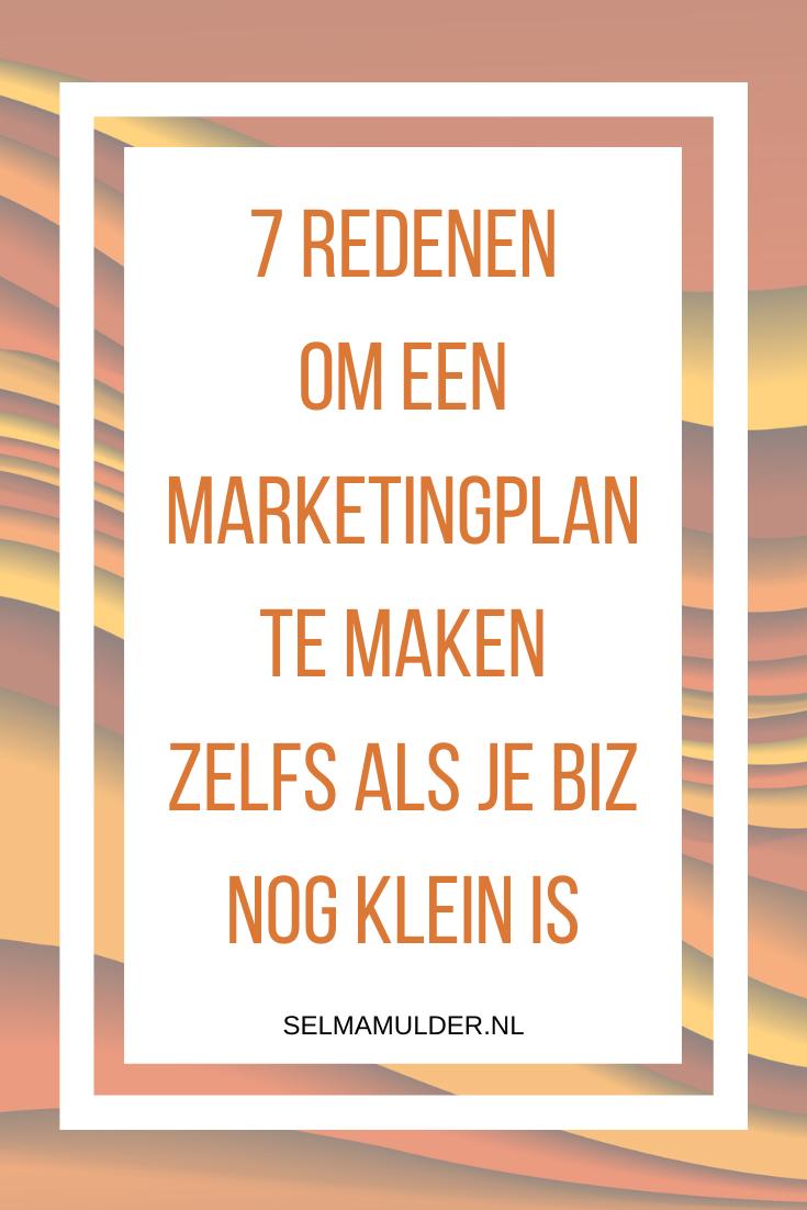 Waarom een Marketingplan handig is, ook als je een kleine biz hebt? Lees de 7 redenen waarom je een marketingplan moet maken. Een marketingplan kun je ieder moment in het jaar maken. marketingplan/groeivanjebiz/marketingzondermoeite/solopreneur