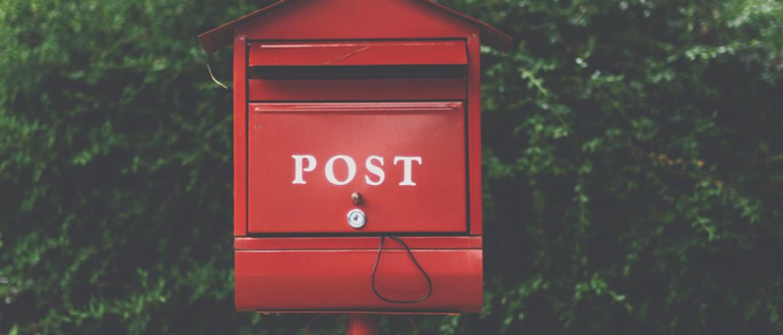 Brief met afspraakcode (want we zijn allemaal dol op minder doen)