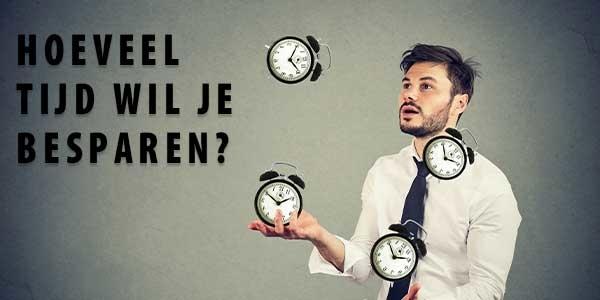 Hoeveel tijd wil je besparen met automatisch plannen?