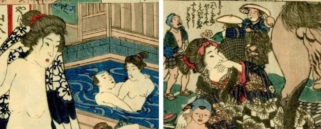 Voluptuous Pastiche on Hiroshige's 53 Stations of the Tokaido Road