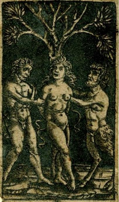 A Satyr and a Faun Tie a Nymph to a Tree, Peregrino da Cesena