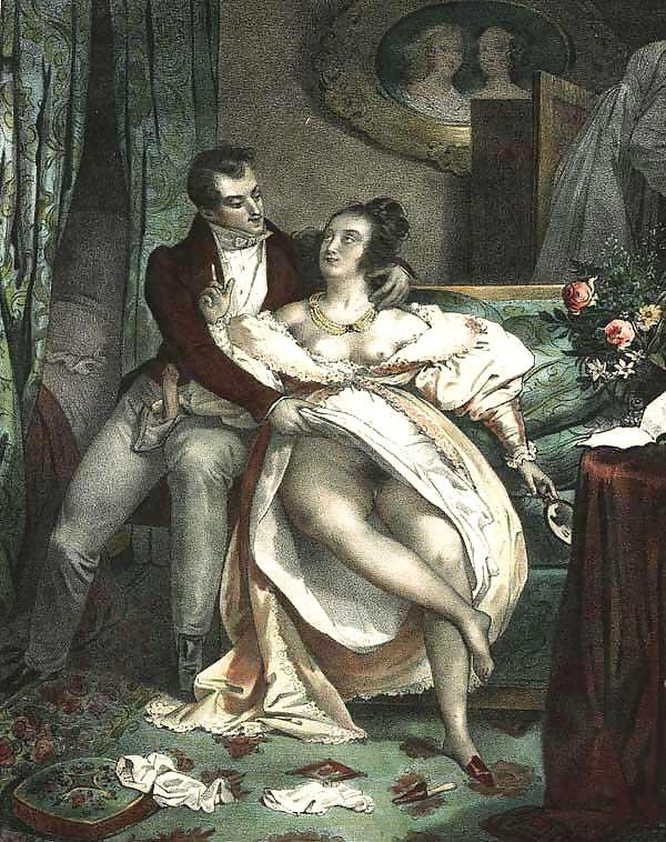 achille deveria intimate couple on bed