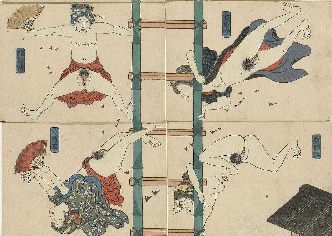 acrobats kuniyoshi