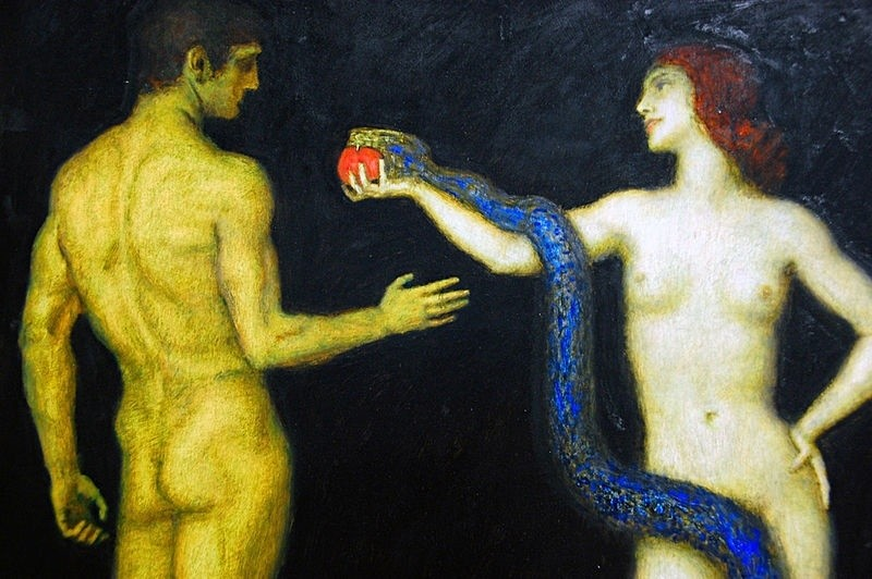 adam and eve Franz von Stuck