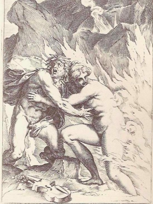Agostino Carracci Orpheus and Eurydice