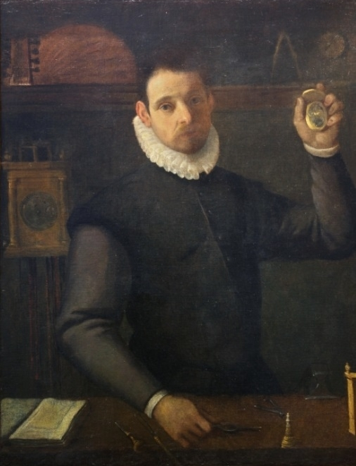 Agostino Carracci Self-portrait as a watchmaker