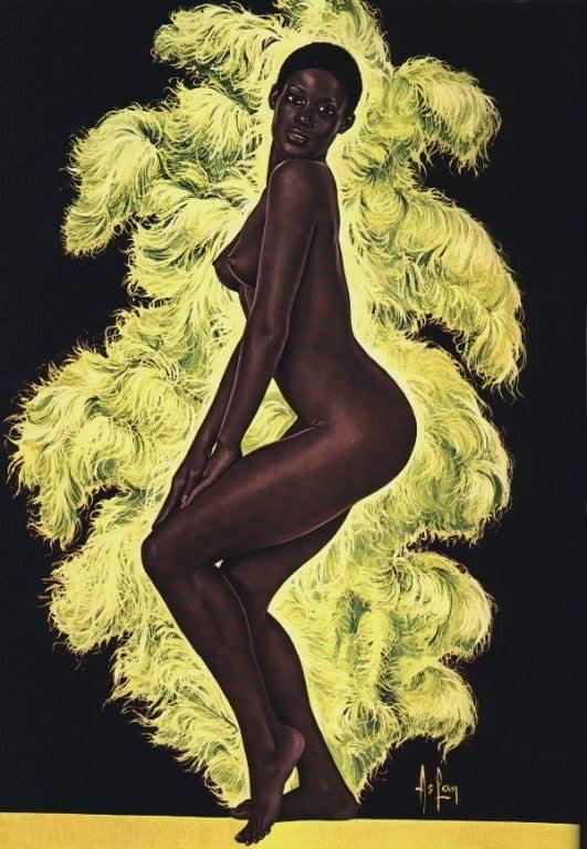 Alain Aslan afro american nude