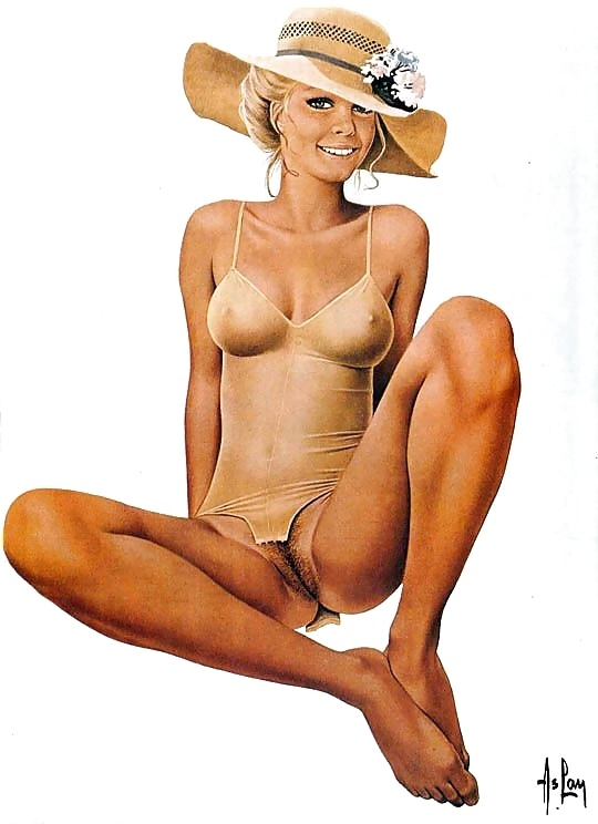 Alain Aslan nude with hat
