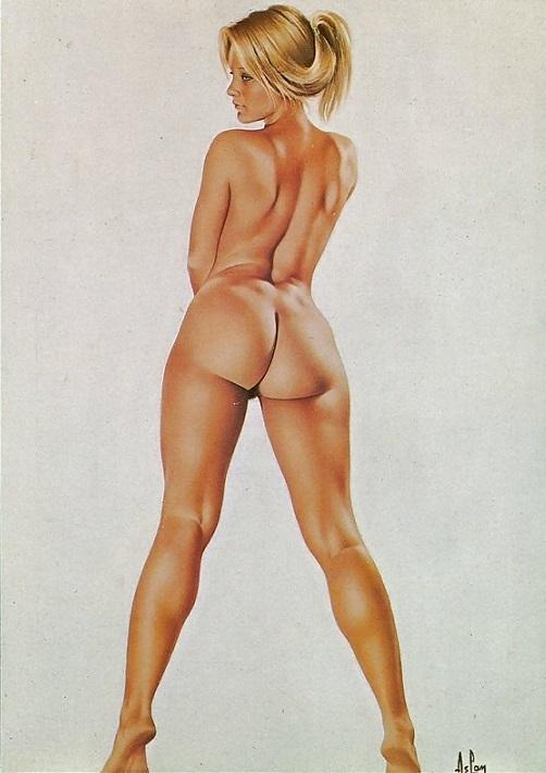 Alain Aslan standing nude