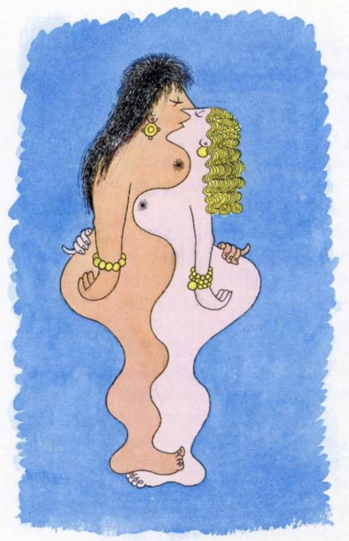 Albert Dubout nude art