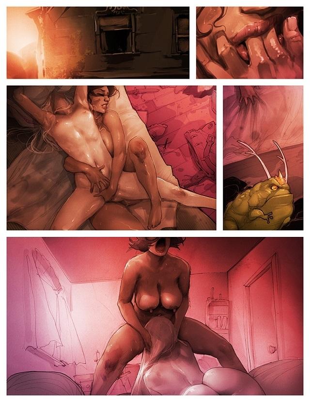 Alexis Flower erotic comic art